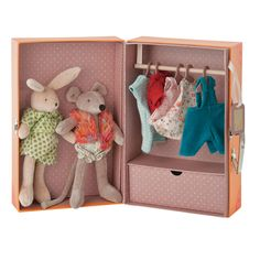 The Bunny & Mouse Little Wardrobe cute little friends | Little Citizens Boutique
