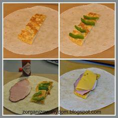 Zorganizowany Dom: Śniadaniowe burrito - dobre do zamrożenia