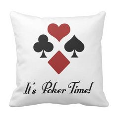 Poker Time Throw Pillows http://www.zazzle.com/poker_time_throw_pillows-189424804050867788?rf=238312613581490875