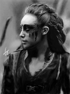 Commander Lexa by colacat Lexa The 100, The 100 Clexa, The 100 Cast, The 100 Show, The 100 Poster, The 100 Characters, Commander Lexa, Tribal Makeup, Clarke And Lexa