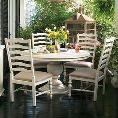 Paula Deen Home Round Pedestal Table Dining Set