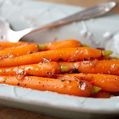 Candied Baby Carrots - Butter, marmalade and carrots.
