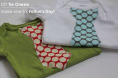 DIY Tie Onesie (fun + easy baby shower gift | http://hellonatural.co/diy-tie-onesie-perfect-for-fathers-day/