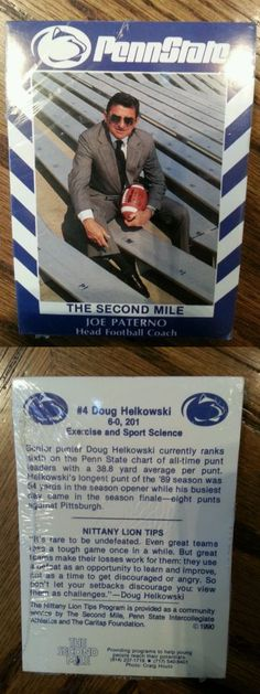 College Cards 133072: Rare 1990 Penn State Football Sealed Factory Set Joe Paterno 2Nd Mile -> BUY IT NOW ONLY: $79.96 on eBay!