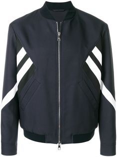 NEIL BARRETT striped bomber jacket. #neilbarrett #cloth #