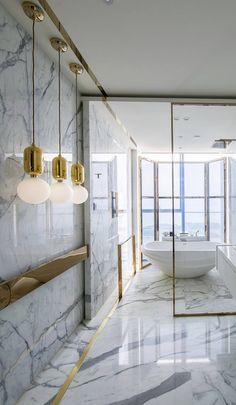 Kelly Hoppen Gold Framed Marble Bathroom