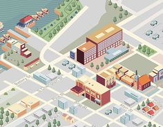 BRAINtrust Marketing + Communications commissioned me to create an illustrated map for Burlington Hilton. The map directs travelers to famous attractions around the hotel.