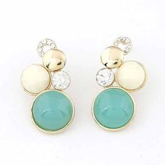 Bubble Czechoslovakia Crystal Stud Earrings via LAU ACCESSOIRES. Click on the image to see more!