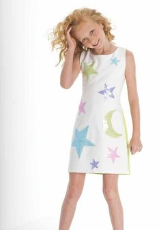 BISCOTTI OVER THE MOON DRESS