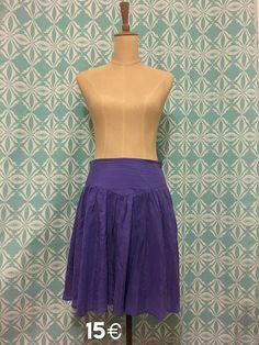 Slik purple skirt