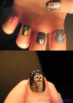 Okay mom, if you can find someone who can do an owl like this on my nails, i will gladly let them be painted. :)