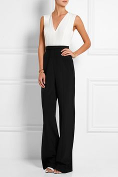 Narciso Rodriguez | Silk crepe de chine and crepe jumpsuit | NET-A-PORTER.COM