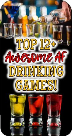 Check out these fun drinking games if youre looking for new original or just plain funny drinking games for your friends to play at your party. Beach Drinking Games, Funny Drinking Games, Drinking Games For Couples, Outdoor Drinking Games, Christmas Drinking Games, Adult Drinking Games, Drinking Games For Parties, Funny Games, Sleepover Games