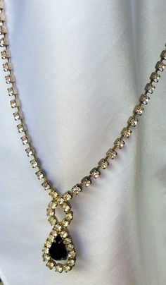 Vintage Necklace 1950s Rhinestone Serenity by VJSEJewelsofhope, $15.00