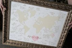 Wedding Poster, Wedding Guest Book Alternative, Wedding Guest Book Map, Custom Gift Map, Custom Wedding Map, Custom World Map, Long Distance Relationship Gift, Travel Map  WE MET, WE MARRIED, WE HONEYMOONED MAP  WEDDING GUEST BOOK ALTERNATIVE: If you are using this map as a signed guest book for your wedding, here is the recommended size of map to purchase for your guest count. (The larger you go, the more your guests will be able to write longer notes/wishes rather than just their…