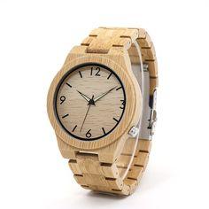 Fashion Round Antique Bracelet Clasp Quartz Bamboo Watch for Men Watches For Men Unique, Wooden Watches For Men, Antique Bracelets, Brighton Jewelry, Watch Model, Bracelet Clasps, Beautiful Watches, Elegant Watches, Pandora Jewelry