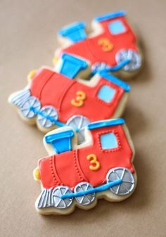 train cookies buttercream - Google Search love the 3