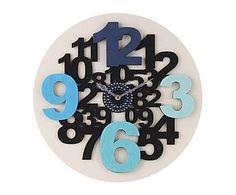Reloj de pared en poliéster Crazy I - Ø39 cm