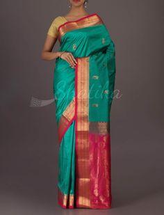 Jaya Pinks And Blues Ornate Good-Looking #Bangalore #WeddingSilkSaree
