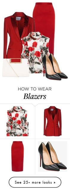 """""""Untitled #851"""" by cynive on Polyvore featuring Roland Mouret, Dondup, Ganni, New Look and Christian Louboutin"""
