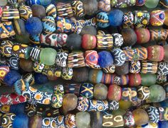 African Recycled Glass BeadsMixed African Glass por RedEarthBeads