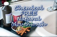It's time to dump the chemical filled mouthwash and create your own natural alternative, spread the word...