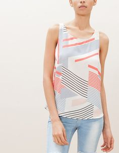 Striped racer back top