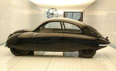 The original Saab 001 (Ursaab), Saab museum in Trollhattan, Sweden.
