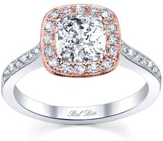 Rose Gold Engagement Ring Settings from the Bel Dia Collection designed by DeBebians.