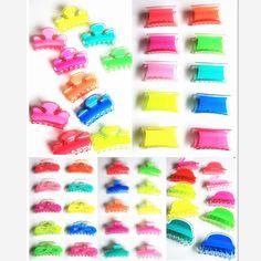 Coreano Acessórios Acessórios de cabelo Cor fluorescente Coroa imperial T- Arco Arco Grampo para cabelo Gripper