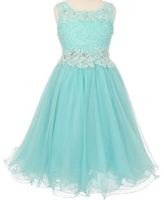 A personal favorite from my Etsy shop https://www.etsy.com/listing/280827366/flower-girl-dress-aqua-pink-lace