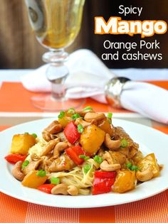 Pork tenderloin is a much under utilized quick dinner ingredient but this Spicy Mango Orange Pork with Cashews uses it in a meal packed with great flavour.