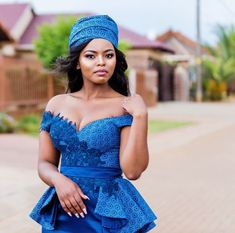Sesotho Traditional Dresses, African Traditional Wedding Dress, Traditional Wedding Attire, Short African Dresses, African Fashion Dresses, Seshweshwe Dresses, Party Dresses, African Print Dress Designs, African Prints
