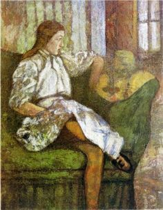 Portrait of Yvonne Duchamp - Marcel Duchamp 1907