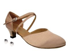 Very Fine Ladies Women Ballroom Dance Shoes EK9691 Light Brown Satin 13 Heel 75M ** You can get additional details at the image link.