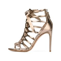 f40928996736 Champagne Gladiator Sandals Hollow out Mirror Leather Open Toe Stiletto  Heels. FSJ shoes