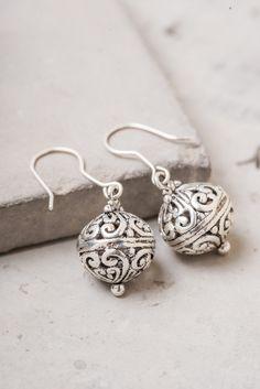 Leia; Bali Ball Spherical Earrings, $19.99 Buy fair trade and help restore hope for exploited women in Asia