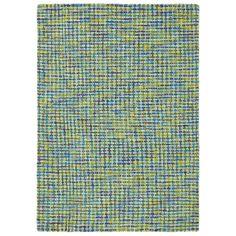Company C Wool Rug Tweedy Blue @Layla Grayce