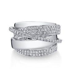 ESSENTIAL ORBIT RING W/ ROUND DIAMONDS