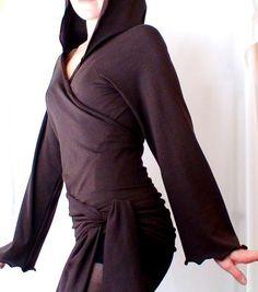 Organic cotton hoodie  hoodies tunic wrap around shirt von econica