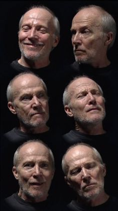 Bill Viola, Six heads, 2000 try contrasting expressions Human Face Drawing, Face Drawing Reference, Drawing Heads, Human Reference, Art Reference Poses, Anatomy Reference, Photo Reference, Bill Viola, Facial Expressions Drawing