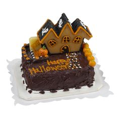Miniature Spooky Mansion Sheet Cake