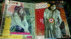 Kelly Kilmer Art Journaling Page