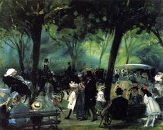 The Drive Central Park William James Glackens