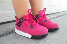 Baby Girl Shoes Jordans Like. every baby girl needs Baby Girl Shoes, Kid Shoes, Girls Shoes, Toddler Shoes, Pink Jordans, Baby Jordans, Shoes Jordans, Little Girl Fashion, Kids Fashion
