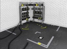 Corner Suspension Bays are highly configurable and may be used for dedicated storage or combined with suspension systems. Customize by selecting various RAX, Wall Bars and Pull-Up Bars or connect additional Bays and Bridges in support of unlimited training possibilities. #gymrax #cornerunit