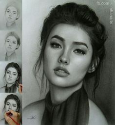 Supreme Portrait Drawing with Charcoal Ideas. Prodigious Portrait Drawing with Charcoal Ideas. Pencil Portrait Drawing, Realistic Pencil Drawings, Portrait Sketches, Portrait Art, Pencil Art, Art Sketches, Painting & Drawing, Art Drawings, Black Pencil