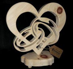 Großes Zirben Herz , schönes Geschenk aus Holz zur Hochzeit!