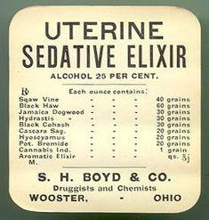 Uterine-Sedative Elixir