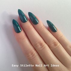 30 Great Stiletto Nail Art Design Ideas #nail